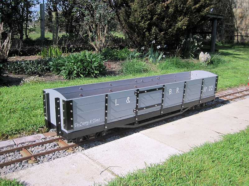5.	My Lynton and Barnstaple wagon without seats and running boards can act effectively as a goods wagon.