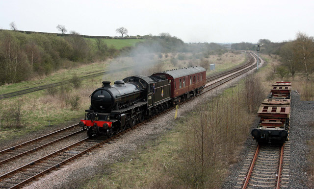 K1 approaches Shildon - Dave Whitfield