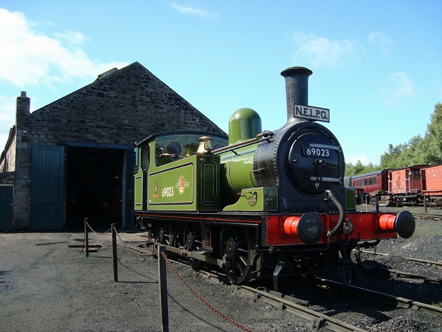 J72 outside Marley Hill Engine Shed