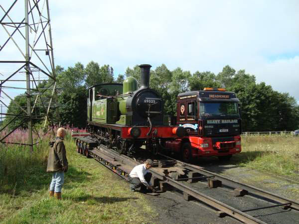J72 being unloaded at Tanfield - Richard Pearson