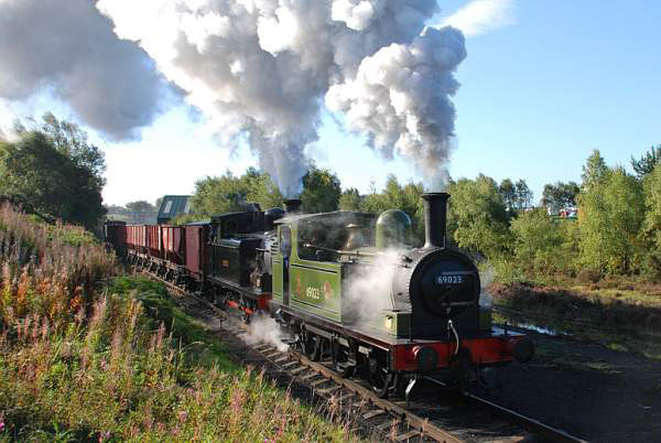 J72 double heading a coal train with Twizell - Dave Pearson
