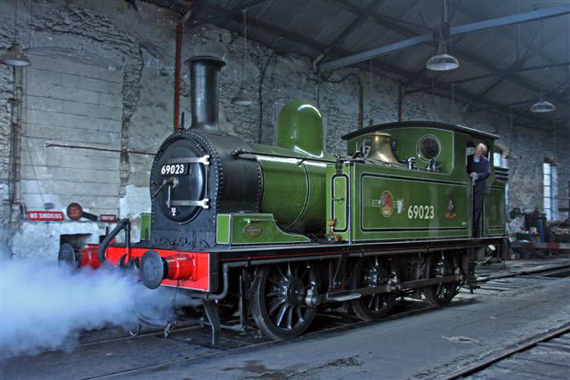 J72 about to leave Marley Hill shed - Dave Whitfield