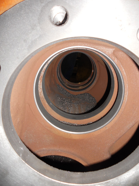 A view along a valve bore.