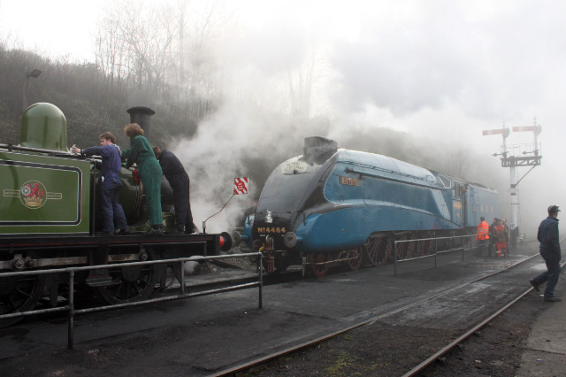 Engine cleaners at work at Bewedley - Neal Woods