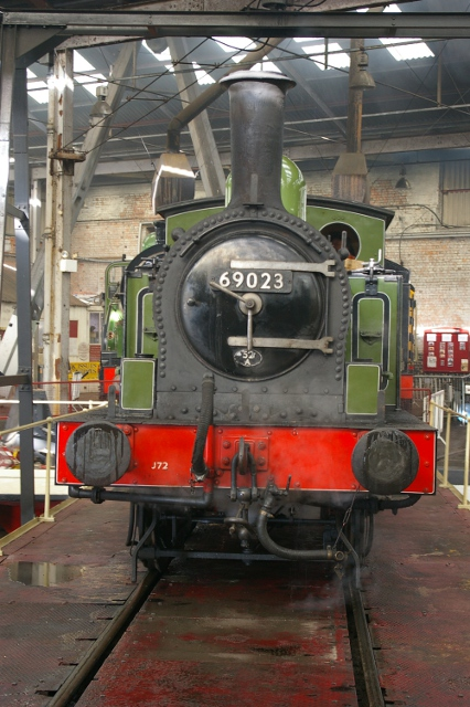 Joem stands on the turntable at Barrow Hill (14 April 2012) - Chris Lawson
