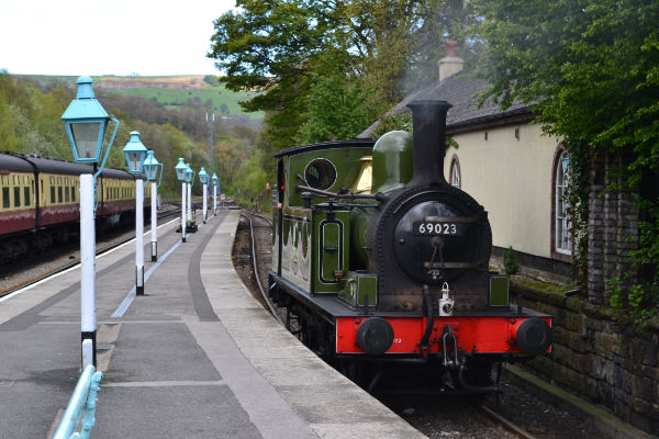J72 sits in platform 3 at Grosmont - Iain Cordeux
