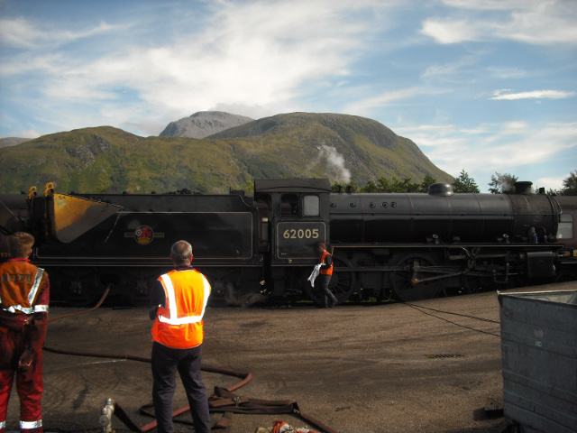Back at Fort William Depot, Ben Nevis in the background - John Midcalf