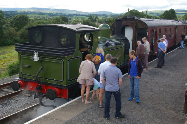 Lots of interest in Joem at Redmire Station, 18th August - Chris Lawson
