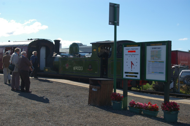 Journeys end. Back at Leeming Bar Station, 18th August - Chris Lawson