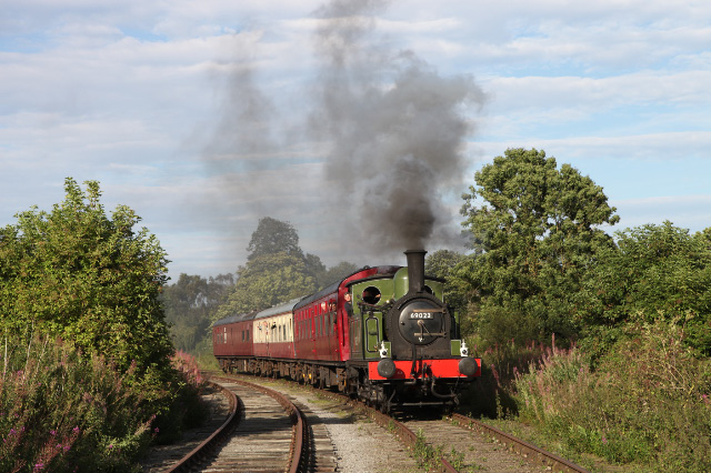 "The only steam train from Northallerton in 2012 - the 17.05 departs Northallerton West to Redmire on September 1st hauled by NELPG's J72 No 69023 ""Joem"" with driver Richard Pearson at the controls - Maurice Burns"
