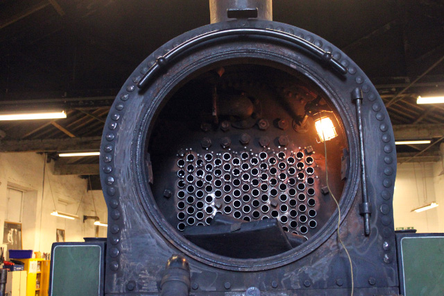 Boiler full of tubes at lunchtime on 1st February - Neal Woods
