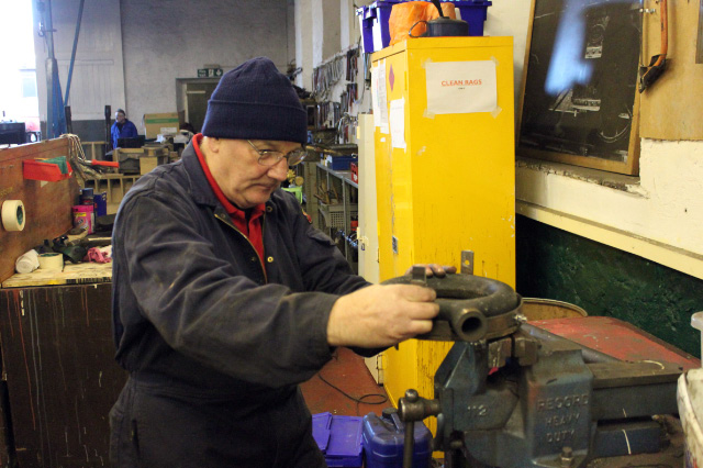 Steve Gibson working on the spark arestor - Neal Woods