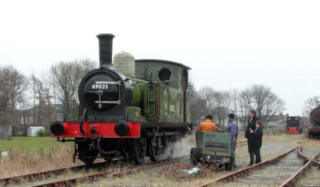 Tuesday's NELPG steam test with working party and visitors - John Hall