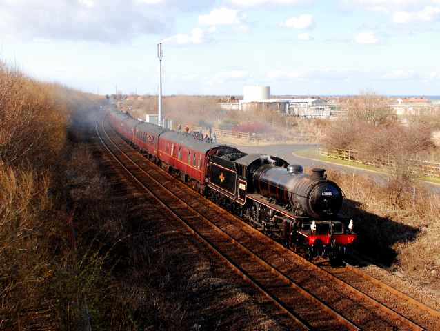 K1 heads the train between Redcar and Marske - Dave Pearson