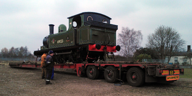 Could have got the whole NELPG fleet of locos on that low loader!! - John Hall