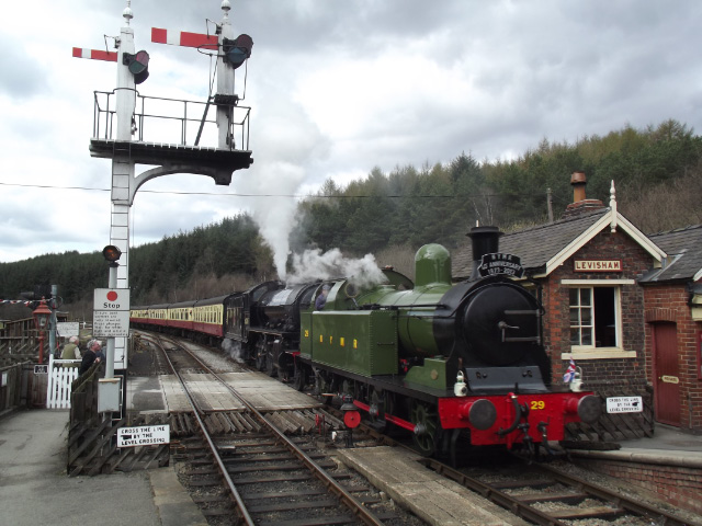 The train arrives at Levisham - Dominic McColl