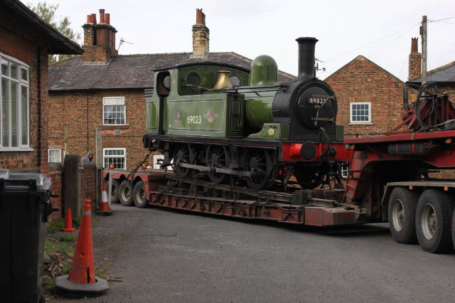 The J72 enters the Leeming Bar car park - Fred Ramshaw