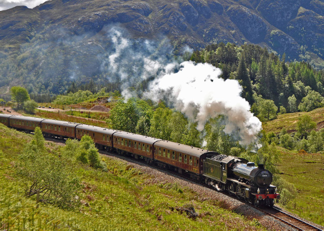 Climbing away from Glenfinnan Station - Colin Smith