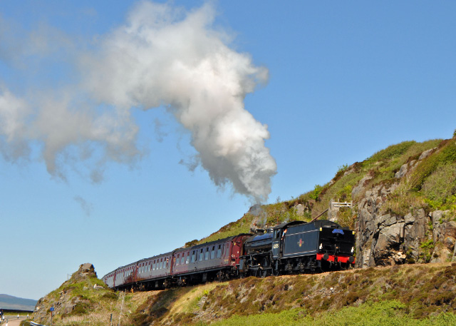 Starting the drag out of Mallaig with the return train - Colin Smith