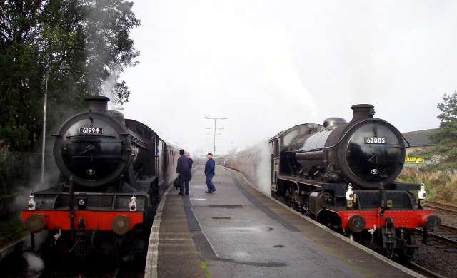 An LNER departure from Fort William; K4 on left, K1 on right - Nigel Hall