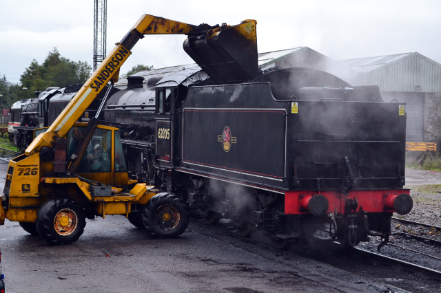 Coaling up after disposal on 3rd October - Iain Cordeux
