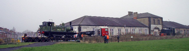 The panorama of Hopetown Works with the J72 safely loaded and ready to depart - Nigel Hall