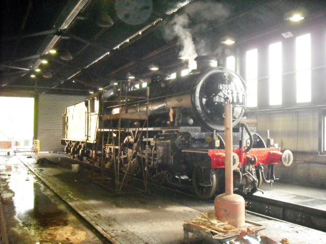 Raising steam in the running shed on 26th April - John Midcalf