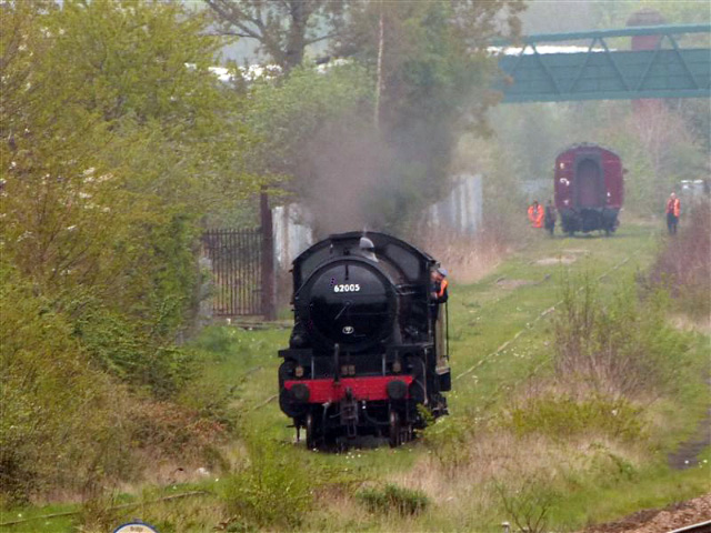 Running around coach in Stockton sidings - Terry Newman