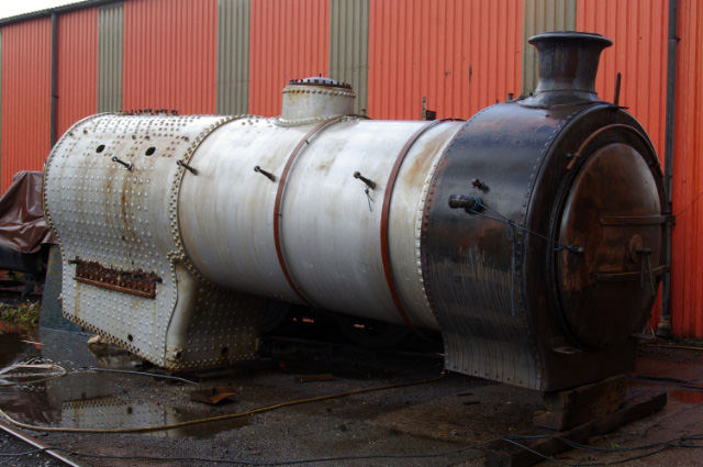 J27 boiler at LNWR Crewe - Chris Lawson