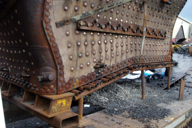 Q6 temporary grate for insurance steam test at LNWR Crewe - Chris Lawson