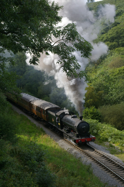 63395 approaches Darnholm with the 15.30 ex Grosmont - Chris Lawson
