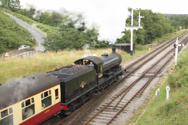 63395 leaves Goathland with the 13.00 - Dave Pennock