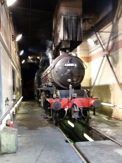 At the end of the day, the K1 stands under the smoke hood over the pit at the NRM York - Rowland Bingham