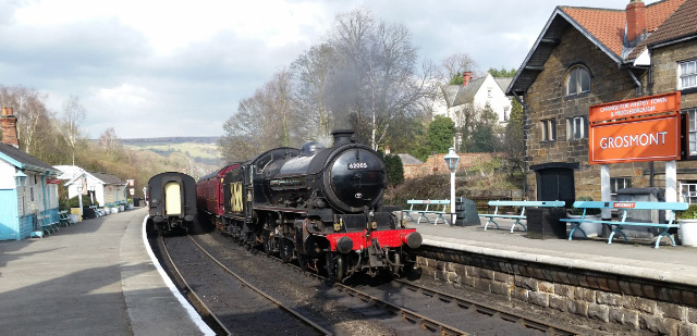 The K1 at the tail of the short train awaits departure for York on Friday afternoon - Rowland Bingham
