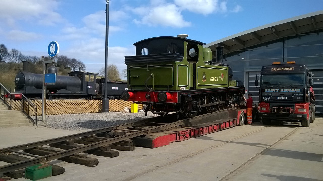 The J72 is loaded at NRM Locomotion ready for departure - Richard Pearson