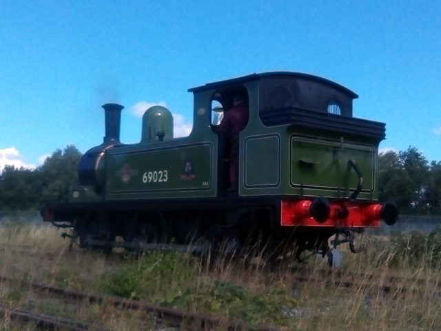 Steam and first movement test on 26th August. The J72 makes its way along the Hopetown running line - Trevor Wilford