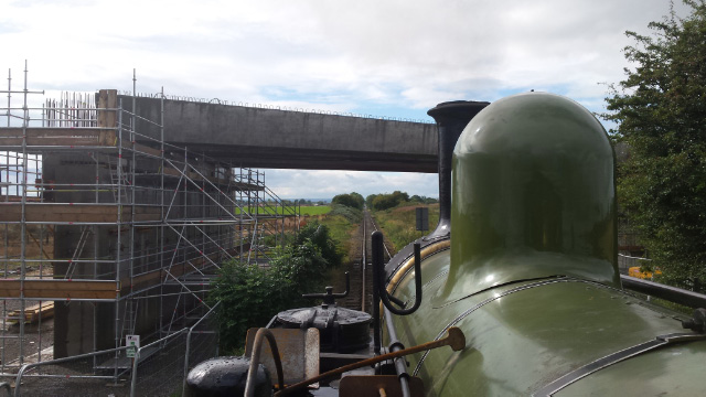Passing under the new Bedale bypass over bridge just east of Leeming bar - James Pearcy