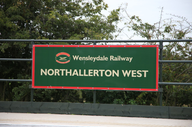 The New Northallerton West station sign - Maurice Burns