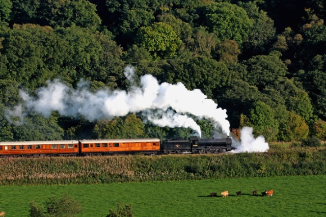 Q6Q6 suffering badly with priming as it passed through Esk Valley with the 16.00 Grosmont to Pickering - Maurice Burns