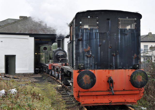 The train of J72, J27 tender frames and the shunter - Colin Smith