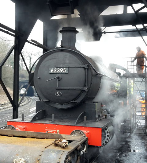 There she blows, under the Grosmont coaling plant - Nigel Hall