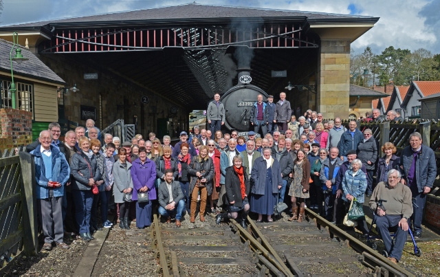 NELPG 50 Tea Train passengers at Pickering - John Hunt