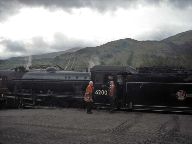 On a grey day, 62005 prepares for its first Jacobite run - John Midcalf