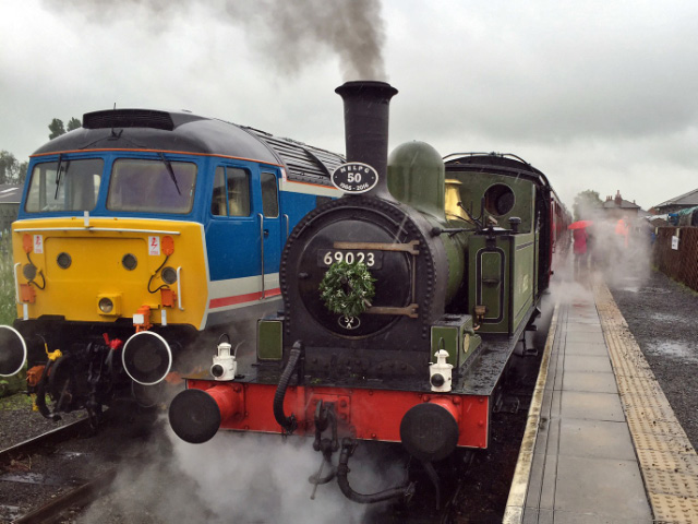 The J72 awaits the 12.30 departure at Leeming Bar on Wednesday 29th June - Fred Ramshaw