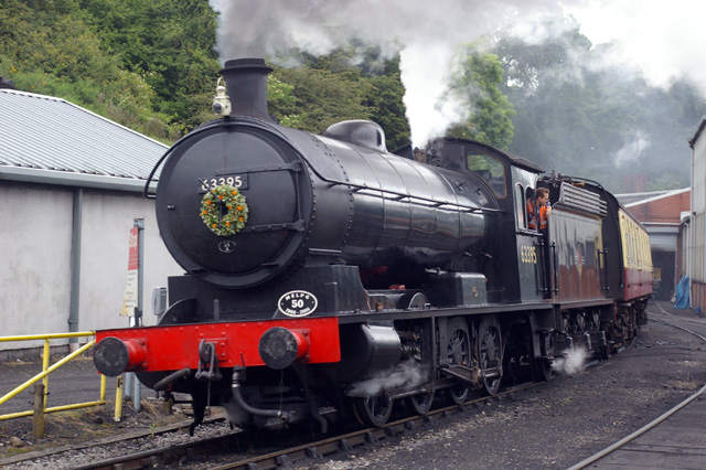 The Q6 passes Deviation Shed with the on the 11.30 Grosmont - Pickering on Wednesday 29th June - Chris Lawson