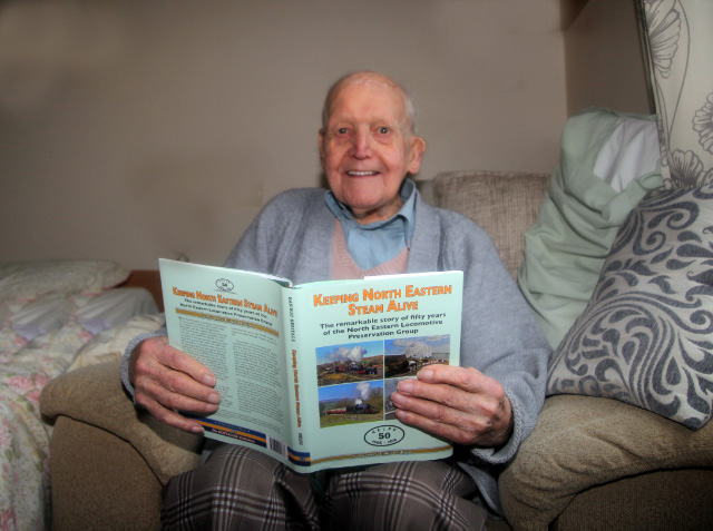 On January 18th 2017  Albert Hawman age 104 and the book he cannot put down!  - Maurice Burns