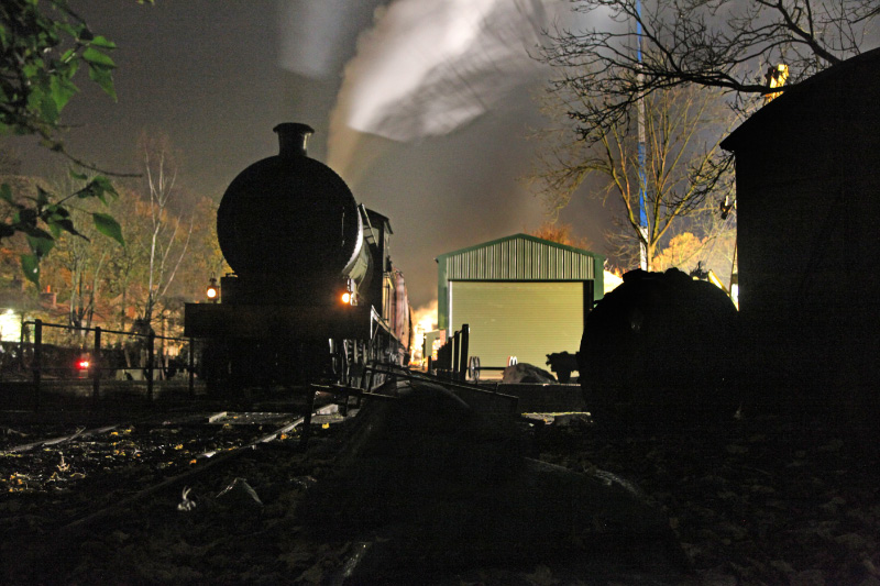 The standby locomotive throughout the night time filming was the J27 with its BR identity removed from the smokebox - Maurice Burns