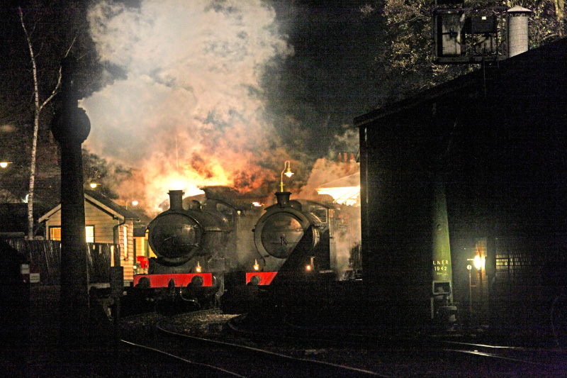 For one part of the filming both engines were used and made ready to depart the station - Maurice Burns