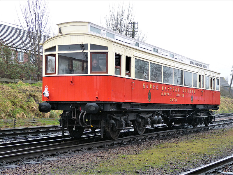 Portrait of the restored North Eastern Railway autocar 3170 - Terry Newman