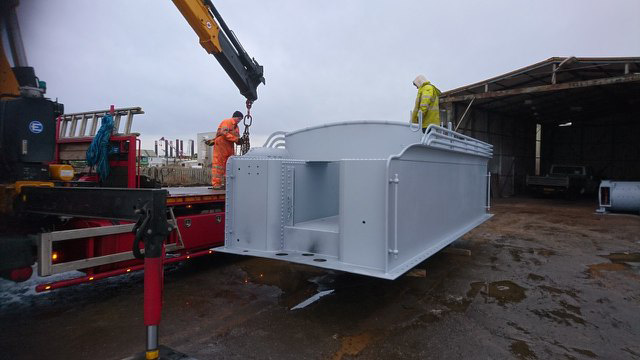 Preparing to load the newly painted tank - Ian Dunn